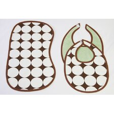 <strong>Bacati</strong> 3 Pc Bib & Burp Cloths Set