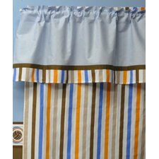Mod Sports Stripes Cotton Rod Pocket Curtain Single Panel