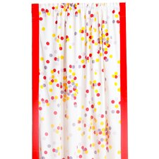 350 Tc Sateen Confetti Cotton Rod Pocket Curtain Single Panel