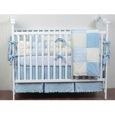 <strong>Bacati</strong> Botanical Sanctuary Jersey Knit Stripes Crib Fitted Sheet