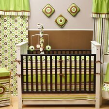 <strong>Bacati</strong> Mod Dots and Stripes 10 Piece Crib Set with Bumper