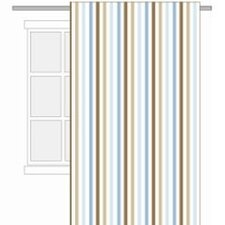 Mod Diamonds and Stripes Cotton Rod Pocket Curtain Panel