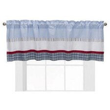 Boys Stripe and Plaids Cotton Blend Rod Pocket Ruffled Curtain Valance