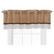 Metro Cotton Blend Rod Pocket Ruffled Curtain Valance