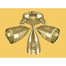 Design and Combine Ceiling Fan Spotlight Kit in Satin Brass