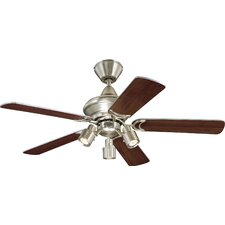 Kingston Ceiling Fan in Brushed Aluminum with Optional Remote Control