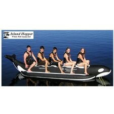 "5 - Passenger Inline Heavy Recreational ""Whale Ride"" Banana Boat Water Sled"