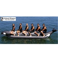 "6 - Passenger Inline Heavy Commercial ""Whale Ride"" Banana Boat Water Sled"