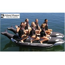 "6 - Passenger Side By Side Heavy Commercial ""Whale Ride"" Banana Boat Water Sled"