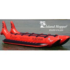 "10 - Elite Class Passenger Side By Side Heavy Commercial ""Red Shark"" Banana Boat Water Sled"
