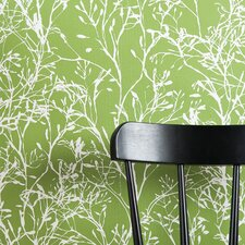 Wild Flower Wallsmart Wallpaper in Green / White