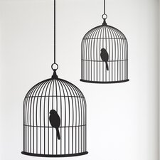 <strong>ferm LIVING</strong> Small Birdcage Wall Decal