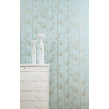 Ribbed Wallsmart Wallpaper in Turquoise / Gold