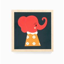 Elle Elephant Wooden Picture