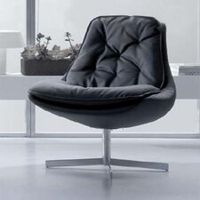 Daya Leather Chair and Ottoman