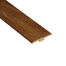 "0.25"" x 1.44"" Laminate Oak T-Molding in Caramel"
