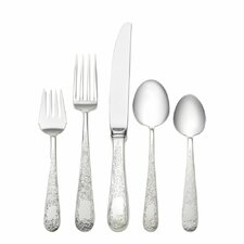 Sterling Silver Old Maryland Engraved 5 Piece Dinner Flatware Set