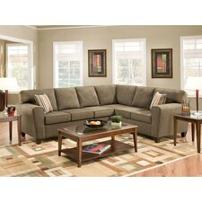 Temperance Microfiber Sectional