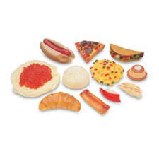 Pretend and Play 13 Piece Multicultural Play Food Set