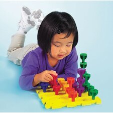 <strong>Learning Resources</strong> Rainbow Peg Play Activity Set