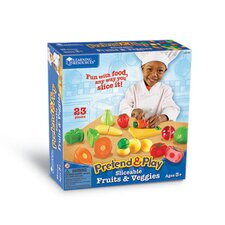 Pretend and Play Sliceable Fruits and Veggies 23 Piece Set