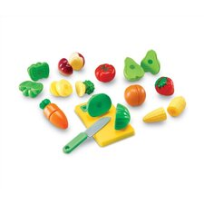 <strong>Learning Resources</strong> 23 Piece Pretend and Play Sliceable Fruits and Veggies Set