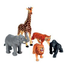Jumbo Jungle Animals 5 Piece Set