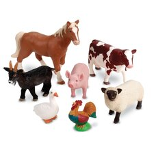 Jumbo Farm Animals 7 Piece Set