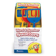 Word and Number Swatters in POP Display 12 Piece Set