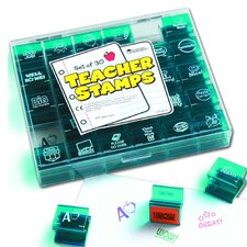 <strong>Learning Resources</strong> Jumbo Teacher Stamps 30 Piece Set