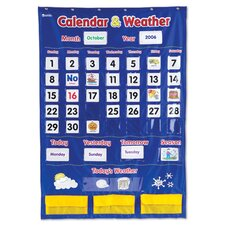 <strong>Learning Resources</strong> Calendar and Weather Pocket Chart