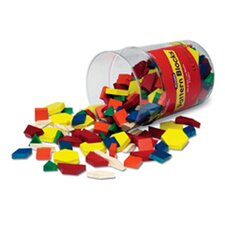 <strong>Learning Resources</strong> Pattern Blocks Wooden 250 Piece Set