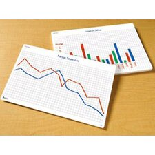Math Graphs Write And Wipe Desk Mat (Set of 30)