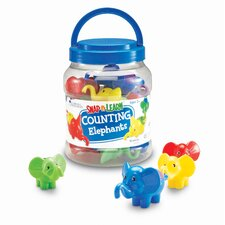 <strong>Learning Resources</strong> Counting Elephants 10 Piece Set