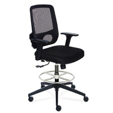 Height Adjustable Sync Stool Chair with Mesh Back