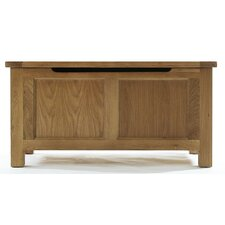 Block Bedroom Blanket Box in Natural Matured Oak