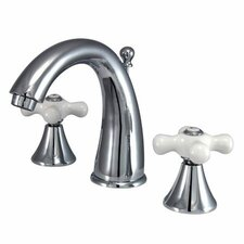 Widespread Bathroom Faucet with Double Porcelain Cross Handles
