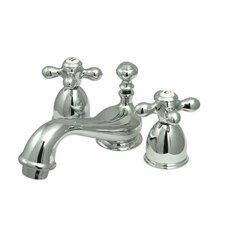 Mini Widespread Bathroom Faucet Spread with Double Cross Handles