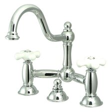 <strong>Elements of Design</strong> Centerset Bathroom Faucet with Double Porcelain Cross Handles