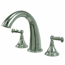 <strong>Elements of Design</strong> Royale Double Handle Deck Mount Roman Tub Faucet Trim French Lever Handle