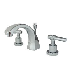 <strong>Elements of Design</strong> Milano Widespread Bathroom Faucet with Double Lever Handles