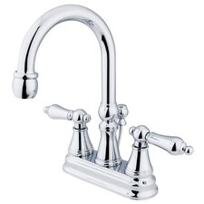 <strong>Elements of Design</strong> Madison Centerset Bathroom Faucet with Double Lever Handles