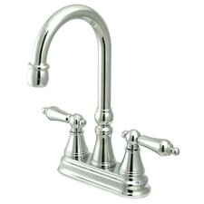 <strong>Elements of Design</strong> Madison Centerset Bar Faucet with Metal Lever Handles