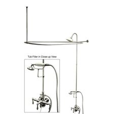 Vintage Volume Control Tub and Shower Faucets with Metal Lever Handles