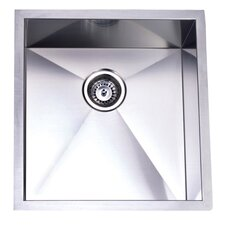"20.06"" x 19"" Towne Square Undermount Single Bowl Kitchen Sink"