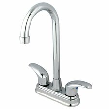 <strong>Elements of Design</strong> Daytona Double Handle Centerset Bar Faucet with Legacy Lever Handles