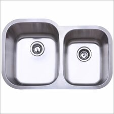 "31.5"" x 20.5"" Gauge Undermount Double Bowl Kitchen Sink"