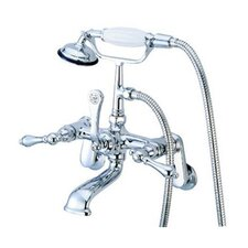<strong>Elements of Design</strong> Hot Springs Wall Mount Clawfoot Tub Faucet Trim Metal Lever Handle