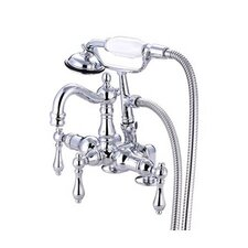 <strong>Elements of Design</strong> Hot Springs Deck Mount Clawfoot Tub Faucet with Handshower