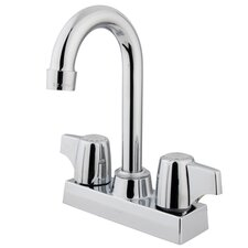 Double Handle Centerset Bar Faucet with Franklin Canopy Handle